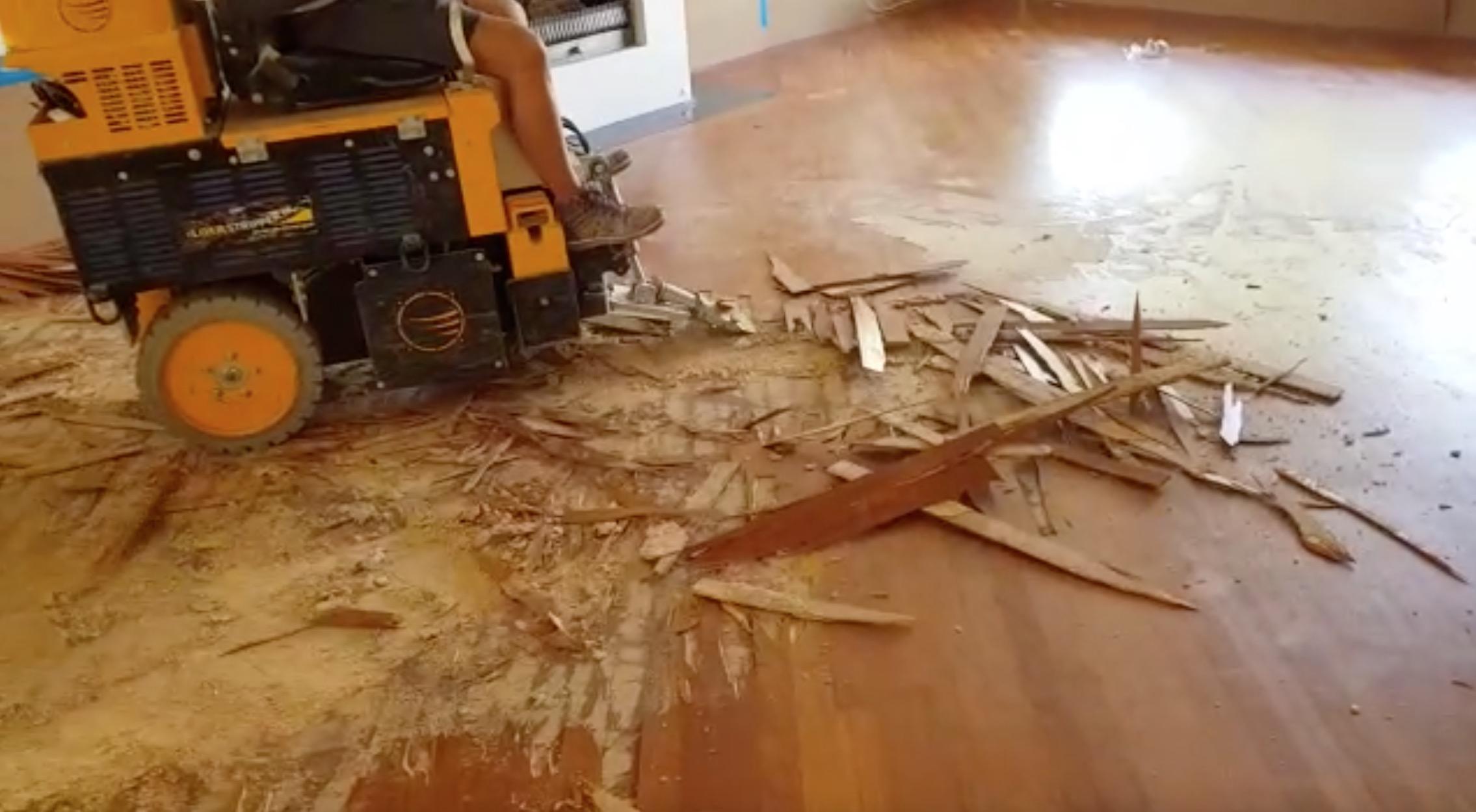 1 Vloerverwarming Houtenvloer Verwijderen